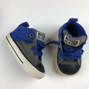 Converse All Star Baby Shoe black toe cap canvas 3